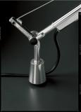 Artemide Tolomeo Mega Tavolo bureaulamp met dimmer en tafelklem aluminium