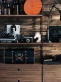 String Furniture Dressoir small, zwart/walnoot