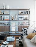 String Furniture Dressoir large, zwart/walnoot