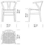 Carl Hansen & Son CH24 Wishbone stoel Colours Natural Paper Cord
