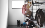 String Furniture Metal shelf high edge 58x30 1-pack