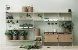 String Furniture Hoge kast small, wit/eiken