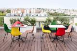 Vitra Eames DSX stoel zwart gepoedercoat onderstel