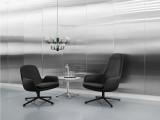 Normann Copenhagen Era Lounge Chair High Swivel fauteuil met aluminium onderstel