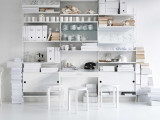 String Furniture Cabinet with sliding doors 78 x 20 x 37 cm