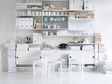String Furniture Cabinet with sliding doors 78 x 30 x 42 cm