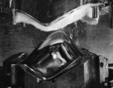Vitra Eames DSR Fiberglass stoel zwart onderstel