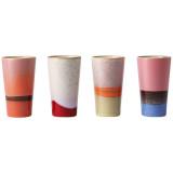 HKliving 70's ceramic latte mokken set van 4