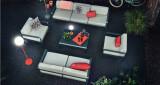 Fermob Bellevie 2-zits loungebank kussen flannelgrijs