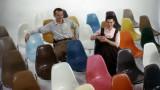 Vitra Eames DSW Fiberglass stoel essen honing