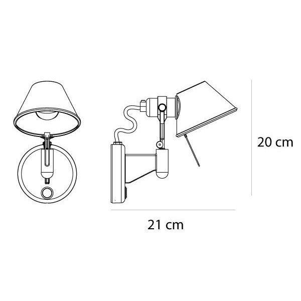 Artemide Tweedekansje - Tolomeo Micro Faretto Halo wandlamp zonder switch