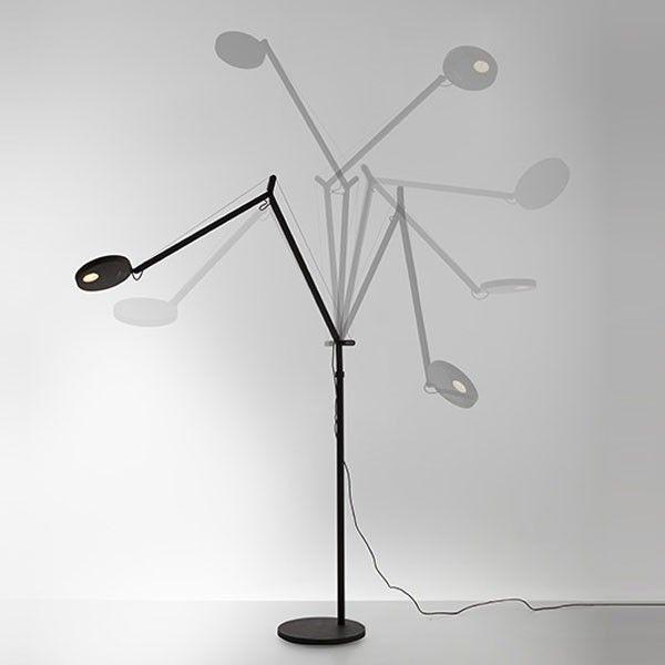 Artemide Demetra Terra vloerlamp LED grijs 3000K - zacht wit