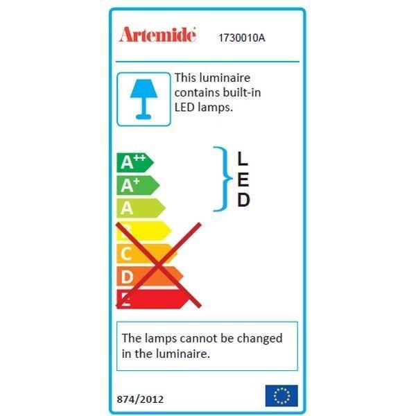 Artemide Demetra Faretto wandlamp LED met schakelaar 3000K - zacht wit