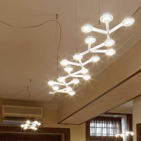 Artemide LED Net Linear 125 hanglamp LED 3000K dimbaar via smartphone