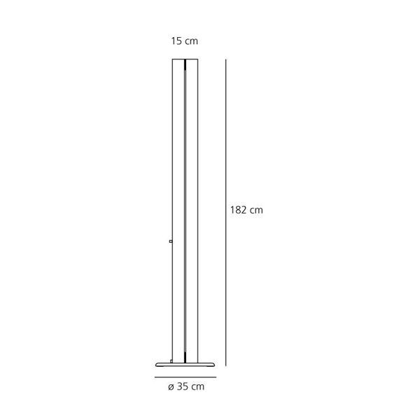 Artemide Megaron Terra vloerlamp LED 2700K - warm wit