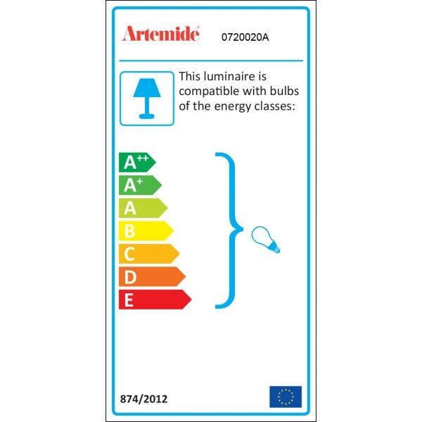 Artemide Melampo wandlamp zonder schakelaar