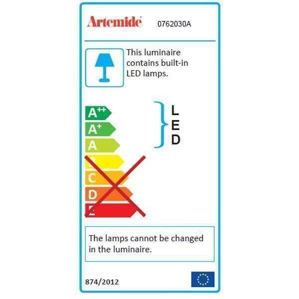 Artemide Tolomeo Mega Terra vloerlamp LED met snoerdimmer zwart