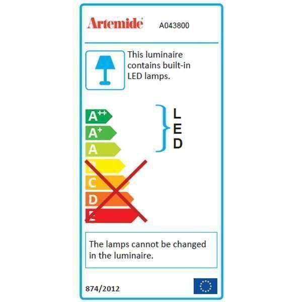Artemide Tolomeo Micro Pinza wandlamp LED 2700K