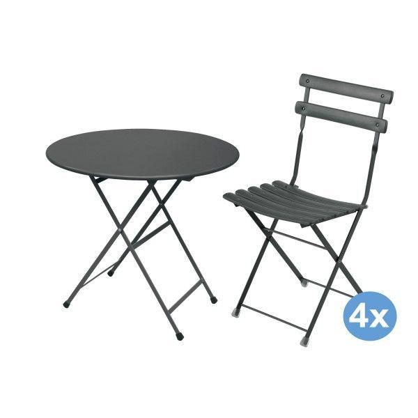Emu Arc en Ciel tuinset 80 tafel + 4 stoelen