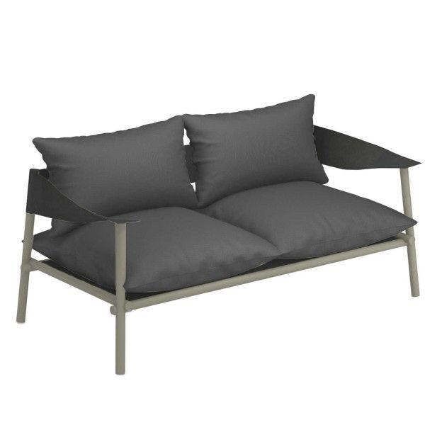 Emu Terramare 2-zits loungebank grijs/groen