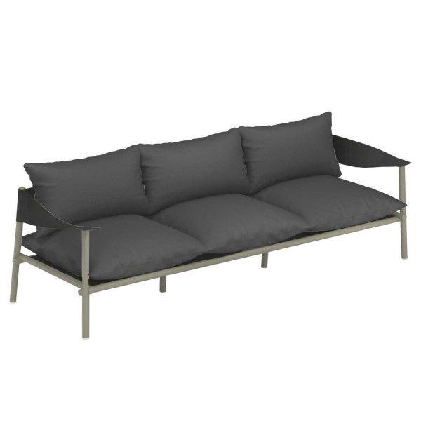Emu Terramare 3-zits loungebank grijs/groen