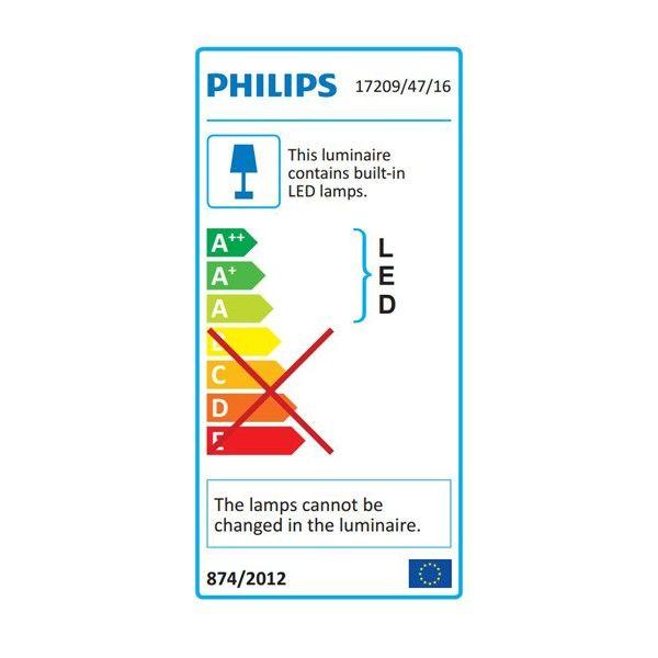 Philips Flagstone wandlamp zwart
