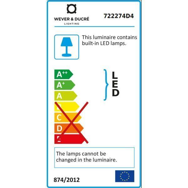 Wever Ducré Tape 4.0 vloerlamp LED donkergrijs 3000K