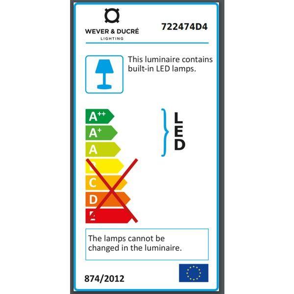 Wever Ducré Tape 8.0 vloerlamp LED donkergrijs 3000K