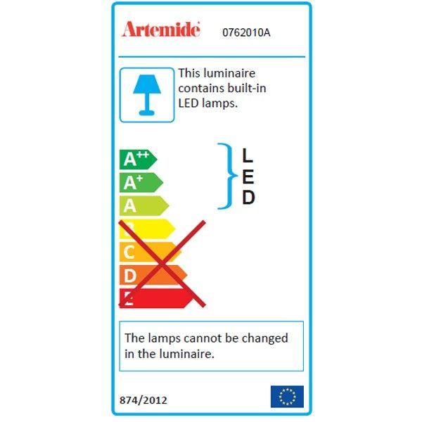 Artemide Tolomeo Mega Terra vloerlamp LED 3000k met snoerdimmer alu