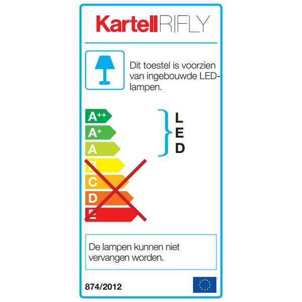 Kartell Rifly hanglamp LED large