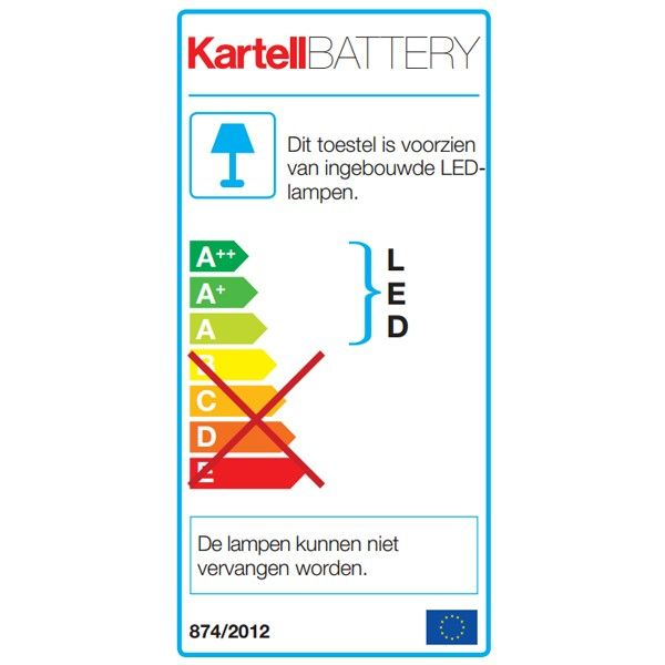 Kartell Battery tafellamp LED