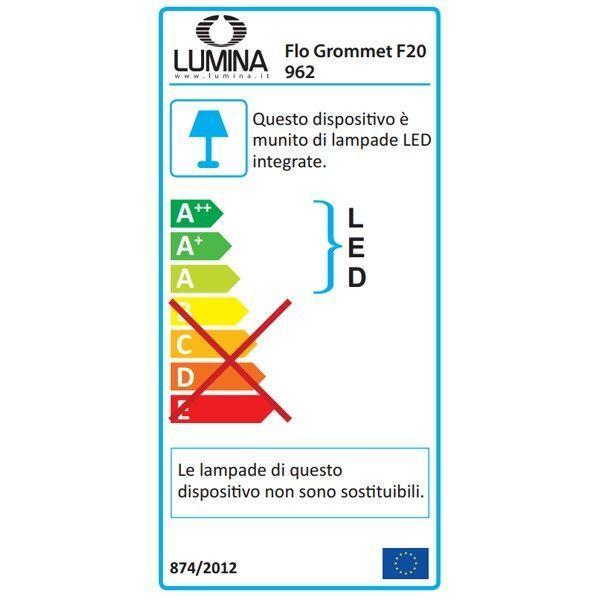 Lumina Flo grommet F20 bureaulamp LED met schroefbevestiging