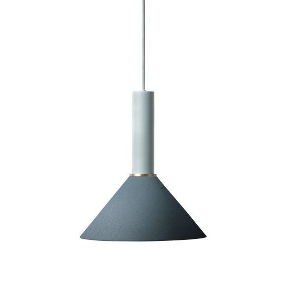 Ferm Living Cone Dark Blue hanglamp