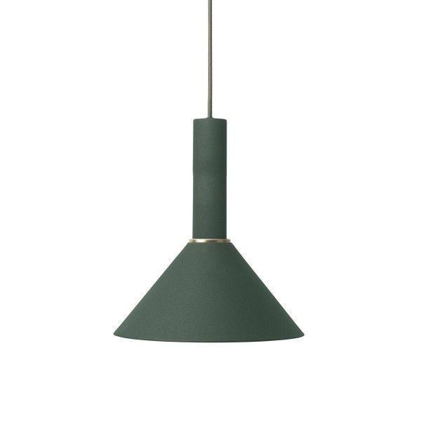 Ferm Living Cone Dark Green hanglamp