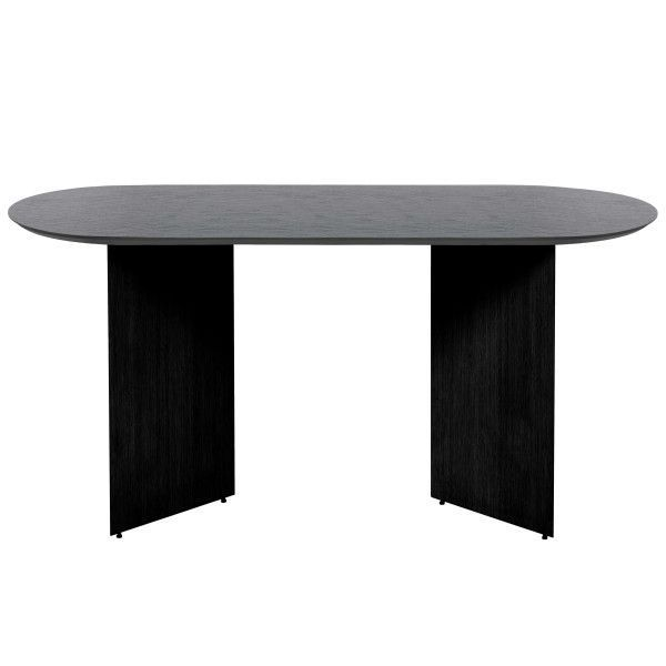 Ferm Living Mingle tafel 150 ovaal black oak veneer