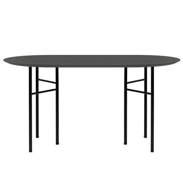 Ferm Living Mingle tafel 150 ovaal charcoal, zwart onderstel