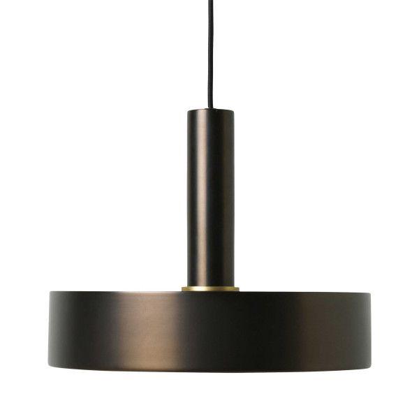 Ferm Living Record Black Brass hanglamp