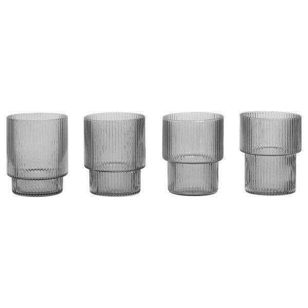 Ferm Living Ripple glas set van 4