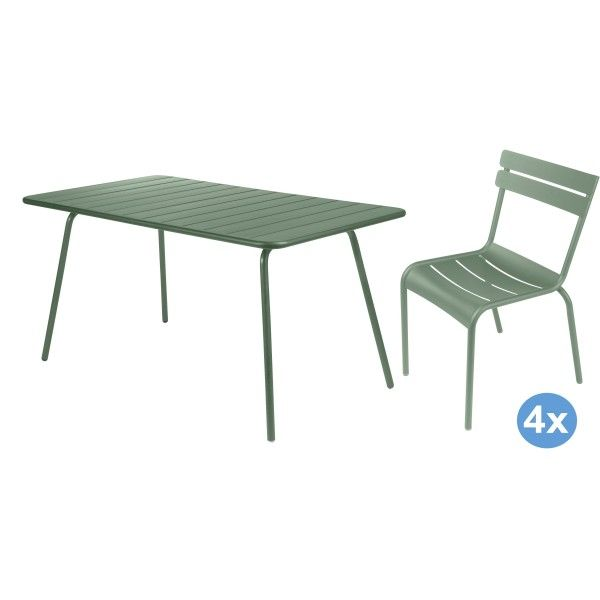 Fermob Luxembourg tuinset 143x80 tafel + 4 stoelen (chair)
