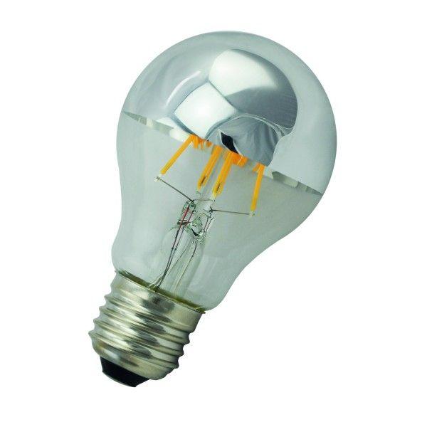 Flinders LED A60 E27 6W 2700K kopspiegel lichtbron Silver dimbaar
