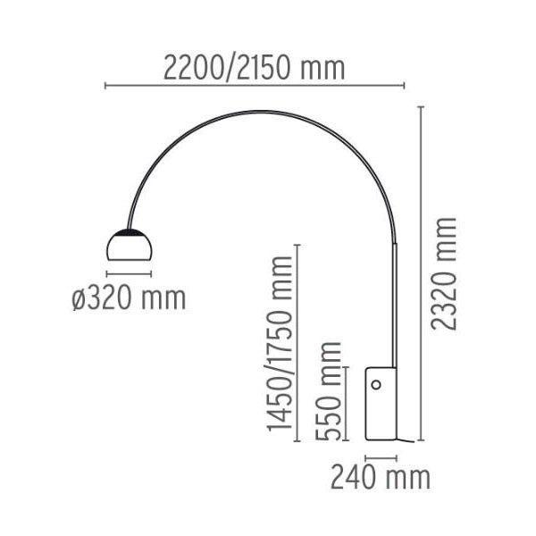 Flos Arco vloerlamp LED