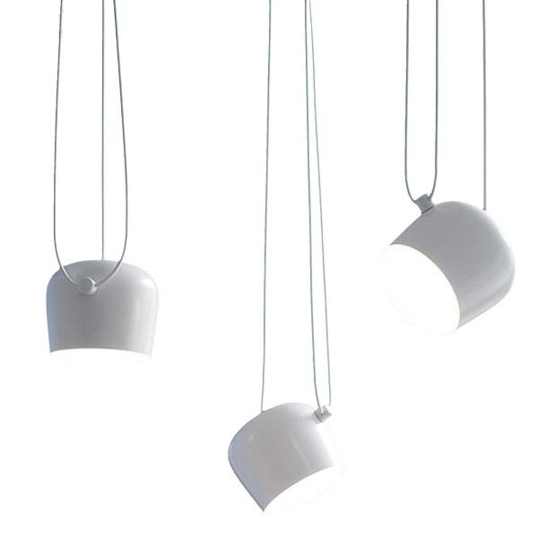 Flos Aim Small hanglamp set van 3 LED wit