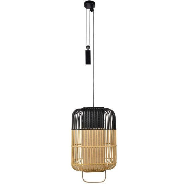 Forestier Bamboo square hanglamp large