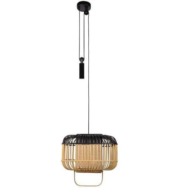 Forestier Bamboo square hanglamp small