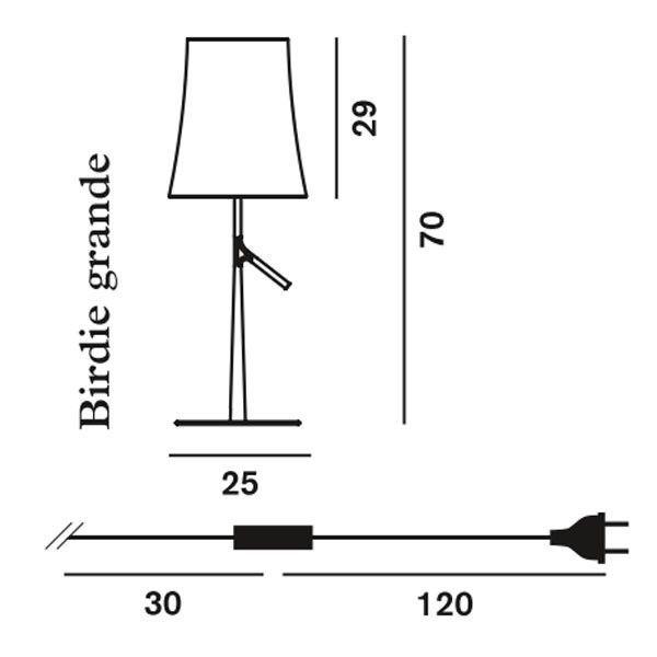 Foscarini Birdie tafellamp met aan-/uitschakelaar