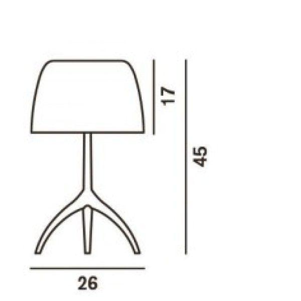 Foscarini Lumiere Grande tafellamp met aan-/uitschakelaar en verchroomd onderstel