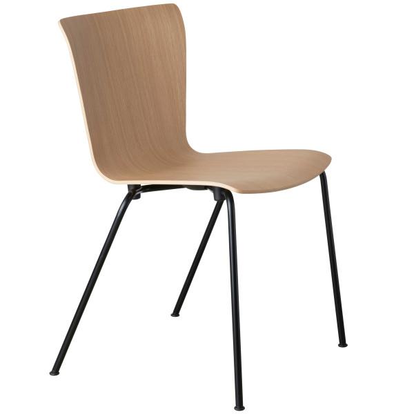 Fritz Hansen Vico Duo stoel, zwart gepoedercoat onderstel