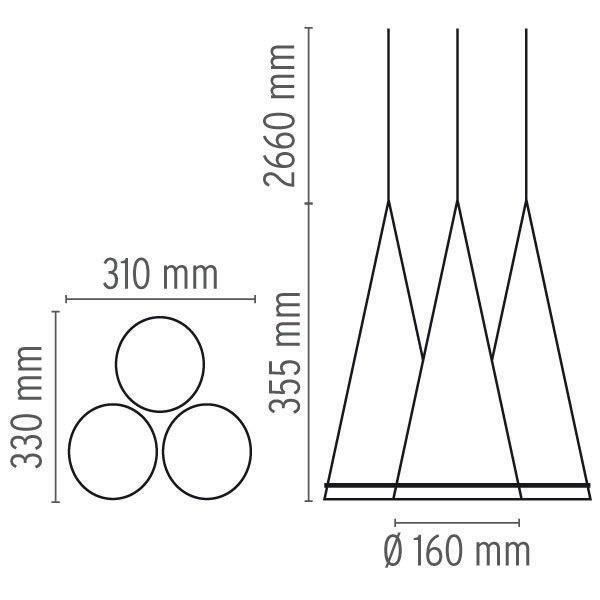 Flos Fucsia 3 hanglamp