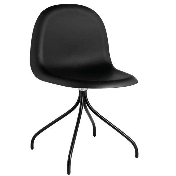 Gubi Gubi 3D HiRek Swivel stoel met zwart onderstel
