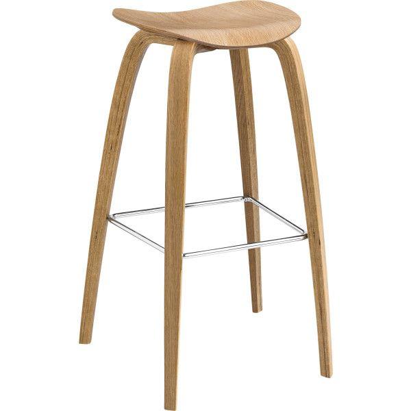 Gubi Gubi 2D Wood barkruk 75 cm